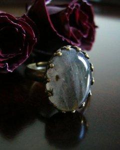 画像1: グレードAAラブラドライトのリング (1)