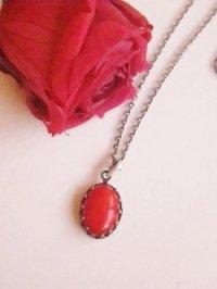 画像1: 赤珊瑚(レッドコーラル)のネックレス 天然石ジュエリー