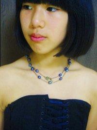 画像1: AA大粒ブルーグレイ淡水パールロングネックレス☆天然石ジュエリー