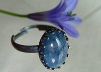 画像1: AA大粒カイヤナイトのリング 天然石ジュエリー・アクセサリー