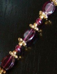 画像1: AAガーネットの携帯ストラップ☆金色の王冠 天然石アクセサリー