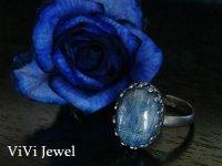 画像2: AA大粒カイヤナイトのリング 天然石ジュエリー・アクセサリー