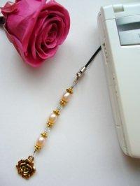 画像2: 薔薇のピンク淡水パール携帯ストラップI 天然石アクセサリー