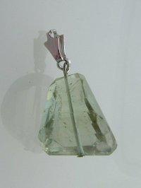画像2: 大粒グリーンアメジストのペンダントトップA  天然石ビーズアクセサリー