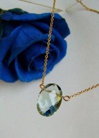 画像1: 宝石質AAA++フローライト オーバルカットネックレスII☆K14gf 天然石ジュエリー