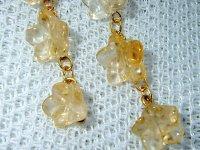画像2: ピアス Flower gold  (シトリン)天然石ビーズアクセサリー