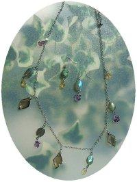 画像2: Oriental necklace (スモーキークオーツ、ラブラドライト、シトリン、アメジスト)