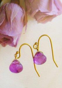 画像1:  violet (アメジスト)天然石ビーズアクセサリー  (1)