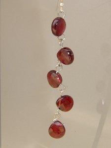 画像1: ガーネットの贅沢ピアス(ガーネットAA品)天然石ビーズアクセサリー  (1)