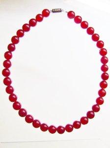 画像1: 濃いピンクのめのうのネックレス(AAアゲート)☆天然石ジュエリー  (1)